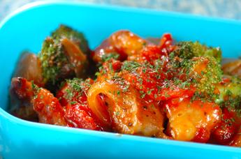 鶏肉と玉ネギのトマト煮