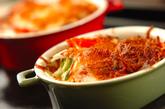野菜のこんがりチーズ焼きの作り方3