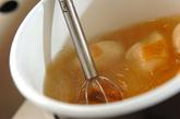 ナメコとキムチのみそ汁の作り方1