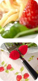 イチゴのパスタ