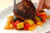 夏野菜をたっぷり使ったハンバーグの作り方7