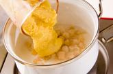 ホタテのコーンスープの作り方2