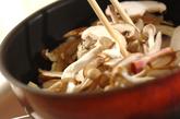 キノコとベーコンのチーズ焼きの作り方2