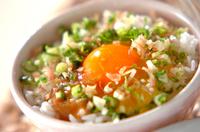 薬味みそのせ卵がけご飯