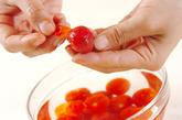 トマトとチーズのマリネの作り方1