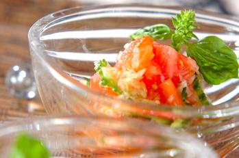 ゴーヤと湯むきトマトのサラダ