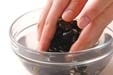 貝のフルフルお吸い物の下準備1