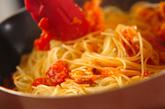 タコのトマトソースパスタの作り方2