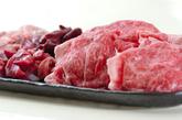 牛肉と鶏肉のすき焼きの下準備1