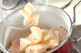 手羽元とレンコンのこっくり煮の作り方1