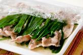 豚ニラレンジ蒸しの作り方2