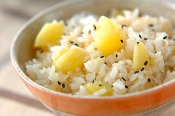 サツマイモの雑穀ご飯