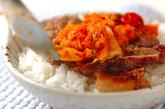 豚キムおろしライスの作り方5