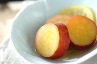 輪切りサツマイモのレモン煮