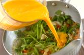 鶏肉とユリネの卵とじの作り方2