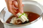 エノキとミツバのお吸い物の作り方2