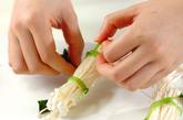 エノキとミツバのお吸い物の作り方1