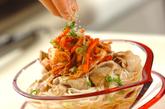 豚しゃぶキムチ素麺の作り方4