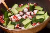 キュウリとタコの炒め酢の作り方1