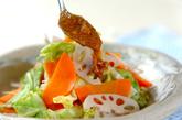 温野菜のピリ辛ゴマだれの作り方3