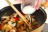 マイタケとニラの中華炒めの作り方3