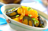 菊カボチャのサッパリ煮