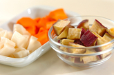 干し芋の根菜スープの下準備1