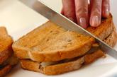 梨とピーナッツバターのサンドイッチの作り方2