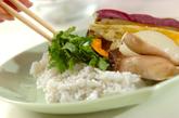 レンジ圧力鍋でタイ風おこわと蒸し野菜の作り方3