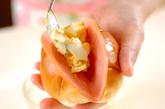ロールパンハム卵サンドの作り方2