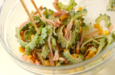 ゴーヤとハムのサラダの作り方1
