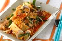 豚肉とアサリのキムチ炒め
