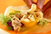 サラダクレープの作り方4