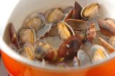 アサリとキノコのガーリックスープの作り方2