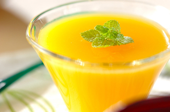 オレンジジュースでゼリー