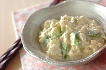 アボカドと豆腐のサラダ