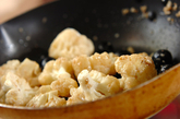 カリフラワーのアンチョビ炒めの作り方1