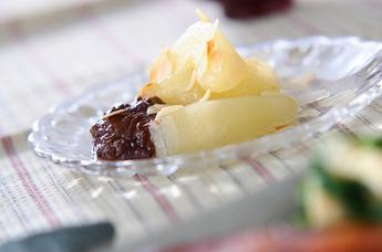 ラ・フランスのチョコソース