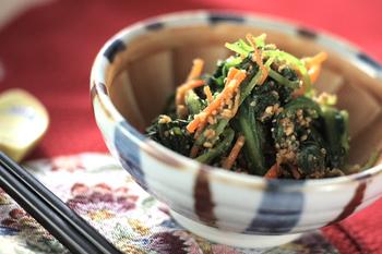 菊菜のゴマ和え