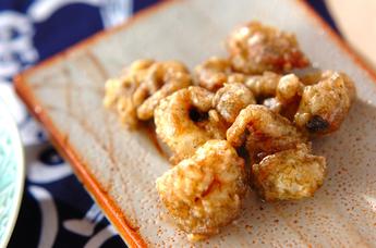 イカゲソの梅風味天ぷら