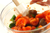 トマトと炒めコンニャクのサラダの作り方2