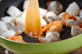 イカとエビのマヨ炒めの作り方1