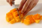 柿とオレンジのジュースの作り方1