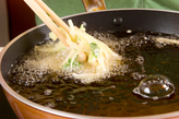 ミツバと大豆のかき揚げの作り方3