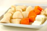 ジャガイモの甘辛煮の下準備1