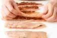 ささ身梅肉揚げの作り方1