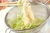 鶏むね肉のサッパリ炒め素麺の作り方2