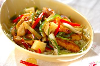 鶏むね肉のサッパリ炒め素麺