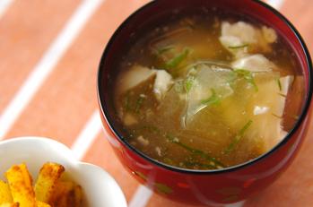 冬瓜のくずし豆腐スープ