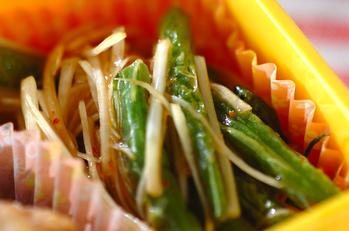 サヤインゲンの中華風和え物